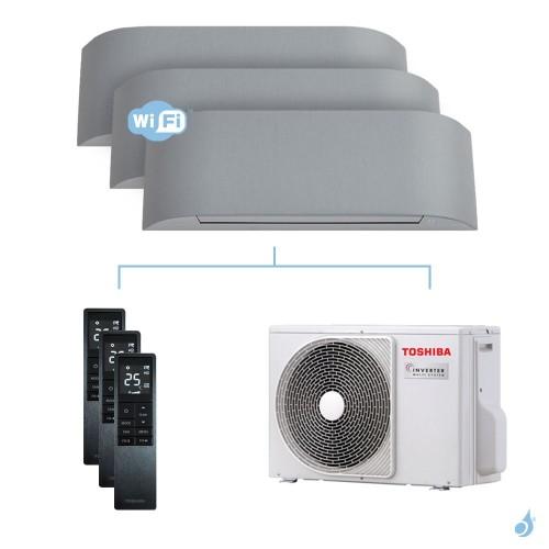 Climatisation tri-split Toshiba Haori 5.2kW taille 10 + 10 + 10 - RAS-B10/10/10N4KVRG-E + RAS-3M18U2AVG-E