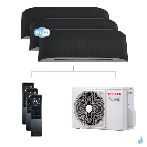 Climatisation tri-split Toshiba Haori 5.2kW taille 10 + 13 + 13 - RAS-B10/13/13N4KVRG-E + RAS-3M18U2AVG-E