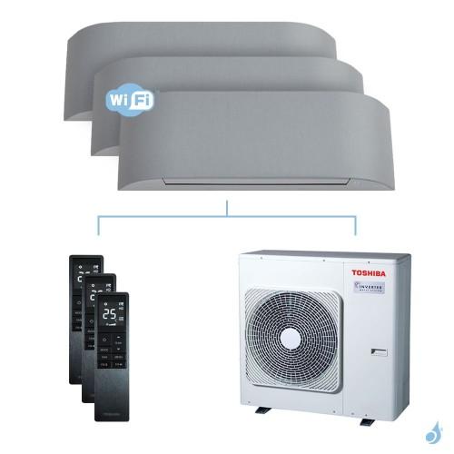 Climatisation tri-split Toshiba Haori 7.5kW taille 10 + 13 + 16 - RAS-B10/13/16N4KVRG-E + RAS-3M26U2AVG-E