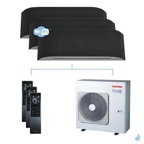 Climatisation tri-split Toshiba Haori 7.5kW taille 16 + 16 + 16 - RAS-B16/16/16N4KVRG-E + RAS-3M26U2AVG-E