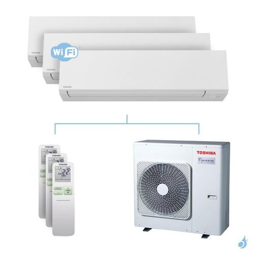 Climatisation tri-split Toshiba Shorai Edge 7.5kW taille 05 + 05 + 05 - RAS-M05/05/05N4KVSG-E + RAS-3M26U2AVG-E