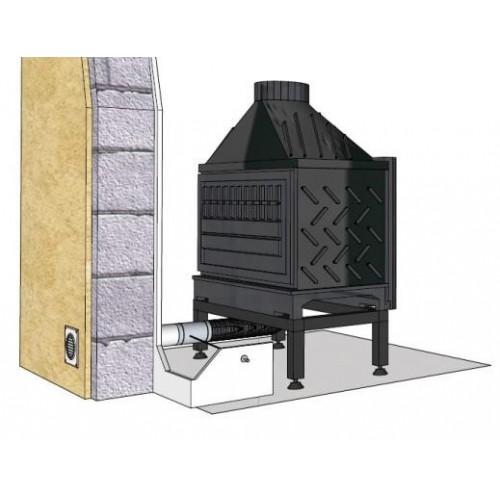 Kit air frais direct cheminée obturable à distance Ø 125 ou 150 mm