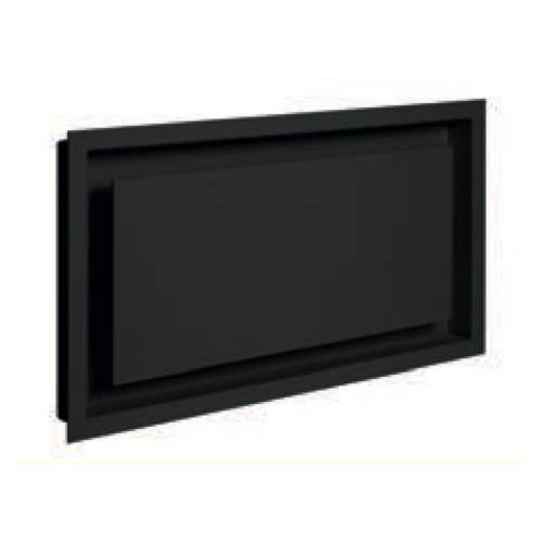 Grille de coffrage avec précadre simple AIR 02 noir 440 x 250