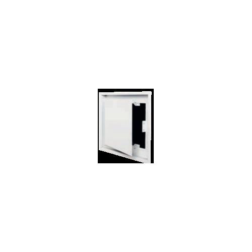 Trappe d'accès coffrage + passage d'air avec précadre et boîtier remplissage pellet AIR 02 noir 350 x 350