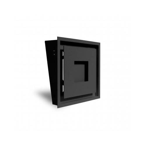 Grille MPR 300 noir + précadre 300 x 300