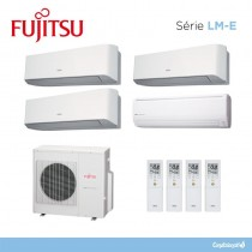 Fujitsu ASYG7LMCE + ASYG12LMCE + ASYG12LMCE + ASYG18LFCA + AOYG30LAT4
