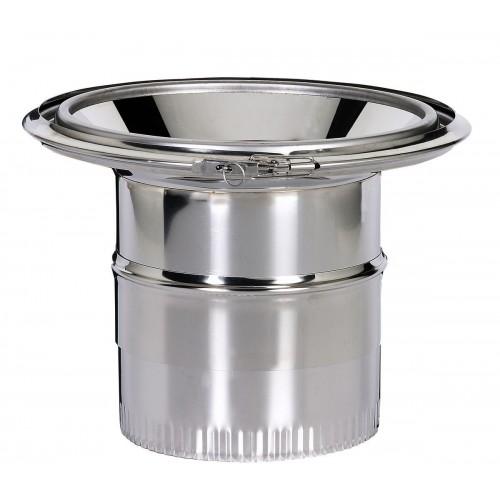 Réduction conique sur conduit domestique Ø 150