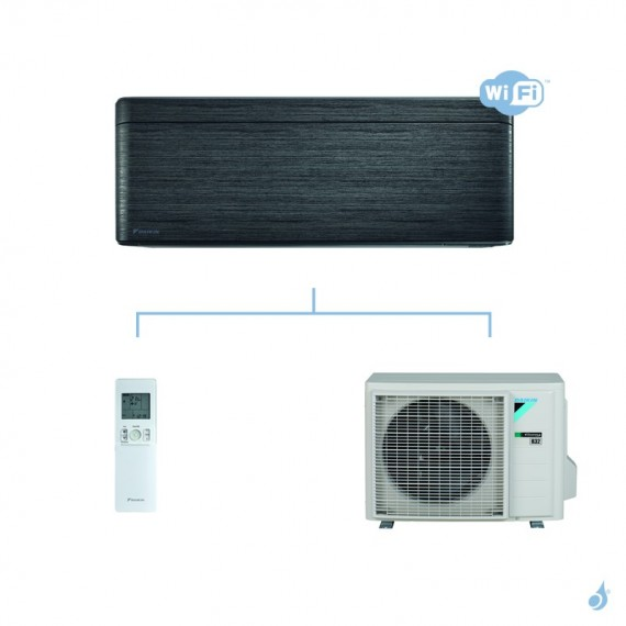 DAIKIN climatisation mono split mural gaz R32 Stylish Blackwood FTXA-AT 3.5kW WiFi FTXA35AT RXA35A A+++