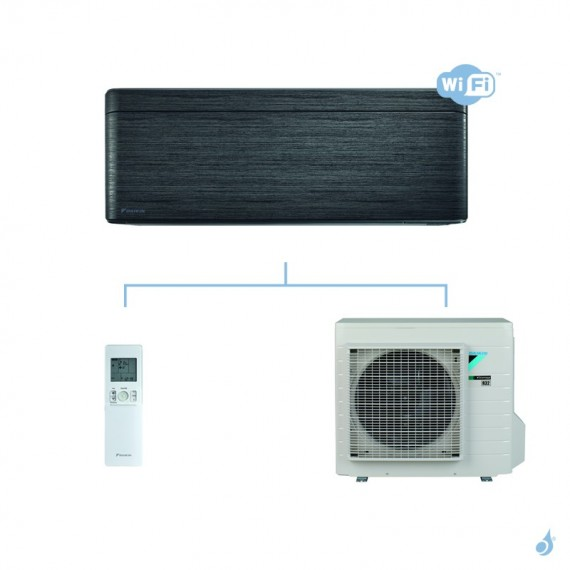DAIKIN climatisation mono split mural gaz R32 Stylish Blackwood FTXA-AT 5kW WiFi FTXA50AT RXA50A A++