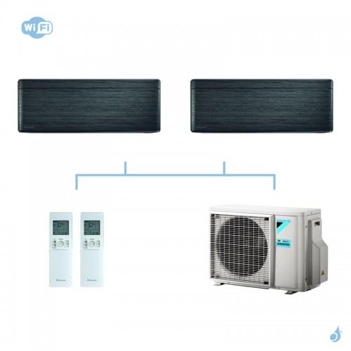 DAIKIN climatisation bi split mural gaz R32 Stylish Blackwood CTXA-AT 4kW WiFi CTXA15AT + CTXA15AT + 2MXM40M A+++