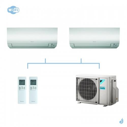 DAIKIN climatisation bi split mural gaz R32 Perfera FTXM-N 4kW WiFi FTXM20N + FTXM20N + 2MXM40M A+++