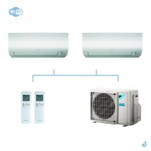 DAIKIN climatisation bi split mural gaz R32 Perfera FTXM-N 4kW WiFi FTXM25N + FTXM35N + 2MXM40M A+++