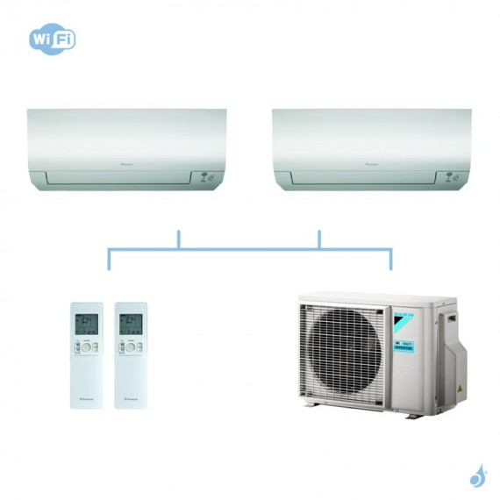 DAIKIN climatisation bi split mural gaz R32 Perfera FTXM-N 5kW WiFi FTXM25N + FTXM50N + 2MXM50M9 A+++