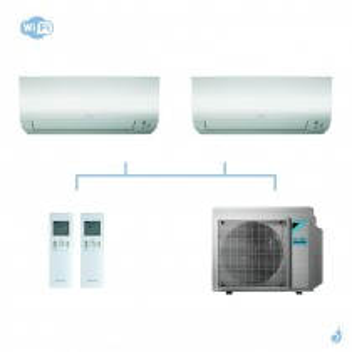 DAIKIN climatisation bi split mural gaz R32 Perfera CTXM-N FTXM-N 4kW WiFi CTXM15N + FTXM25N + 3MXM40N A+++