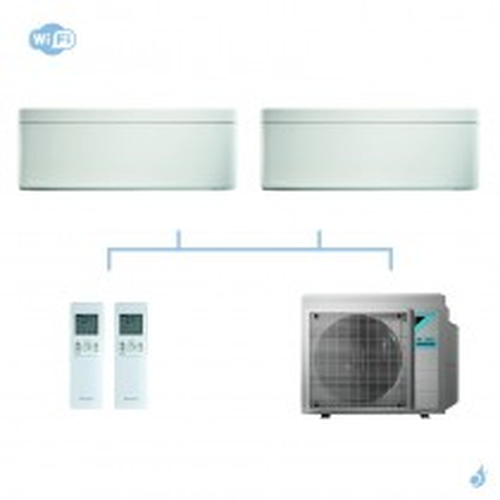 DAIKIN climatisation bi split mural gaz R32 Stylish White CTXA-AW FTXA-AW 4kW WiFi CTXA15AW + FTXA20AW + 3MXM40N A+++
