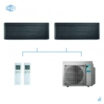 DAIKIN climatisation bi split mural gaz R32 Stylish Blackwood CTXA-AT 4kW WiFi CTXA15AT + CTXA15AT + 3MXM40N A+++