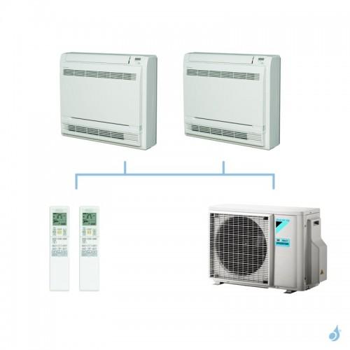 DAIKIN climatisation bi split console double flux gaz R32 FVXM-F 4kW FVXM25F + FVXM35F + 2MXM40M A+++