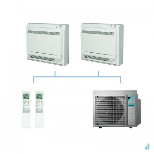 DAIKIN climatisation bi split console double flux gaz R32 FVXM-F 4kW FVXM25F + FVXM35F + 3MXM40N A+++