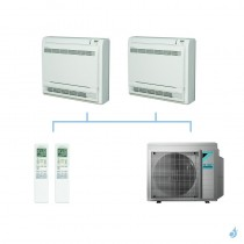 DAIKIN climatisation bi split console double flux gaz R32 FVXM-F 6kW FVXM35F + FVXM50F + 3MXM68N A++