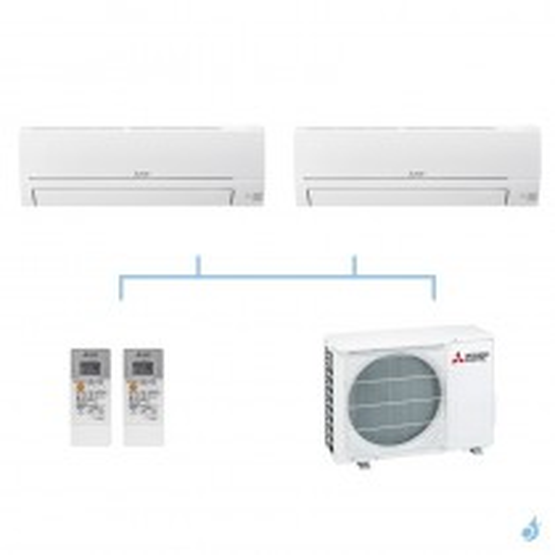 MITSUBISHI climatisation bi split gaz R32 mural essentiel MSZ-HR 5kW MSZ-HR25VF + MSZ-HR35VF + MXZ-2HA50VF A++