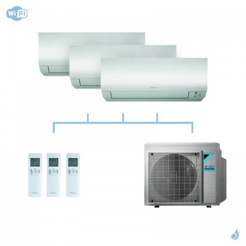 DAIKIN climatisation tri split mural gaz R32 Perfera CTXM-N FTXM-N 6kW WiFi CTXM15N + FTXM35N + FTXM35N + 3MXM68N A++