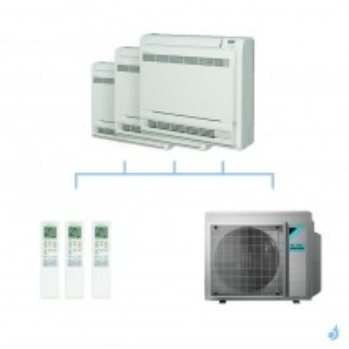 DAIKIN climatisation tri split console double flux gaz R32 FVXM-F 6,8kW FVXM25F + FVXM25F + FVXM25F + 4MXM68N A++