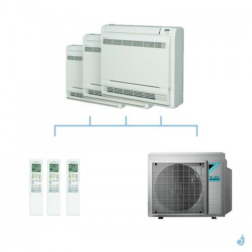DAIKIN climatisation tri split console double flux gaz R32 FVXM-F 7,4kW FVXM25F + FVXM25F + FVXM25F + 4MXM80N A++