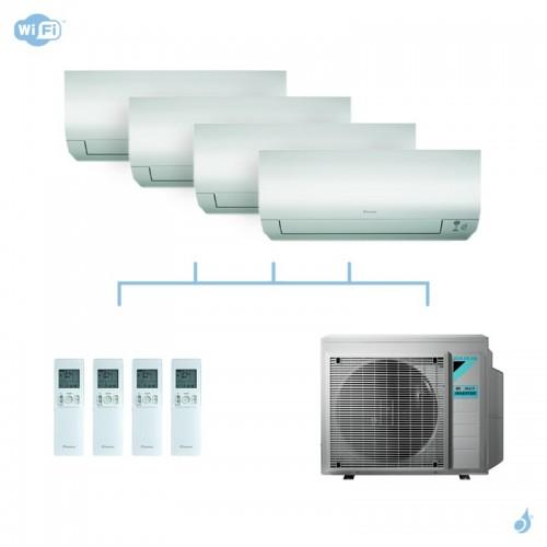 DAIKIN climatisation quadri split mural gaz R32 Perfera 7,4kW WiFi CTXM15N + FTXM20N + FTXM20N + FTXM35N + 4MXM80N A++