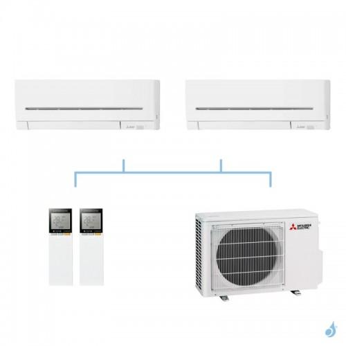 MITSUBISHI climatisation bi split gaz R32 mural compact MSZ-AP 5,3kW MSZ-AP20VF + MSZ-AP25VG + MXZ-2F53VF A+++