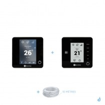 Pack thermostat centralisé Airzone Blueface + Think filaire noir