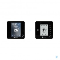 Pack thermostat centralisé Airzone Blueface + Think radio noir