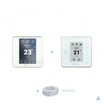 Pack thermostat centralisé Airzone Blueface + Think filaire blanc