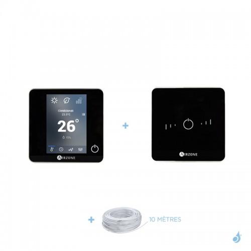 Pack thermostat centralisé Airzone Blueface + Lite filaire noir