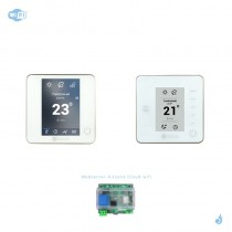 Pack thermostat connecté Airzone Blueface + Think radio blanc + Web server carte WiFi sans fil