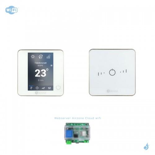 Pack thermostat connecté Airzone Blueface + Lite radio blanc + Web server carte WiFi sans fil