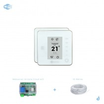 Pack thermostat Airzone Think filaire blanc connecté + Web server carte WiFi sans fil