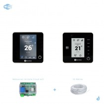Pack thermostat connecté Airzone Blueface + Think filaire noir + Web server carte WiFi sans fil