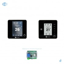 Pack thermostat connecté Airzone Blueface + Think radio noir + Web server carte WiFi sans fil