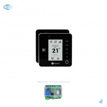 Pack thermostat Airzone Think radio noir connecté + Web server carte WiFi sans fil
