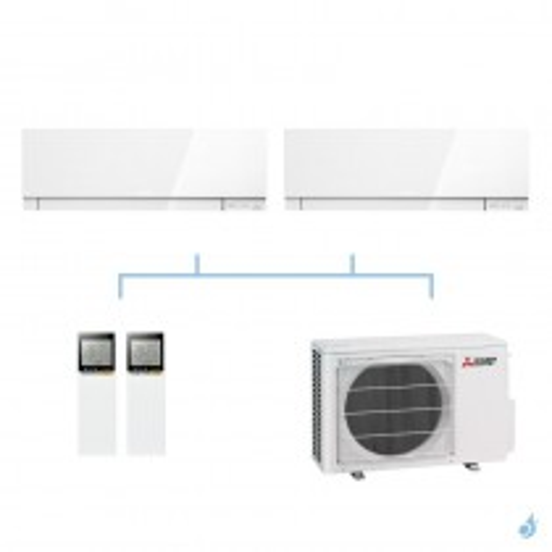 MITSUBISHI climatisation bi split mural gaz R32 Design MSZ-EF 5,3kW MSZ-EF22VG + MSZ-EF25VG + MXZ-2F53VF A+++