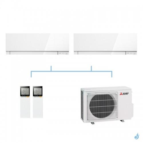 MITSUBISHI climatisation bi split mural gaz R32 Design MSZ-EF 5,3kW MSZ-EF22VG + MSZ-EF35VG + MXZ-2F53VF A+++