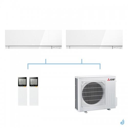 MITSUBISHI climatisation bi split mural gaz R32 Design MSZ-EF 5,4kW MSZ-EF42VG + MSZ-EF50VG + MXZ-3F54VF A+++