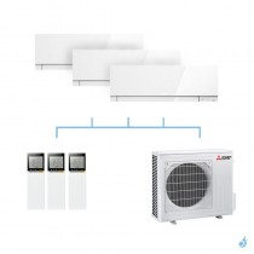 MITSUBISHI climatisation tri split gaz R32 mural Design MSZ-EF 5,4kW MSZ-EF22VG +MSZ-EF25VG + MSZ-EF25VG + MXZ-3F54VF A+++