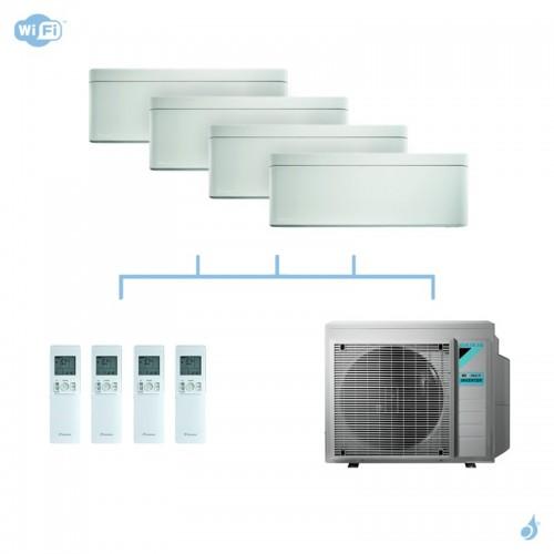 DAIKIN climatisation quadri split mural gaz R32 Stylish White 6,8kW WiFi CTXA15AW+CTXA15AW+FTXA25AW+FTXA42AW+4MXM68N A++