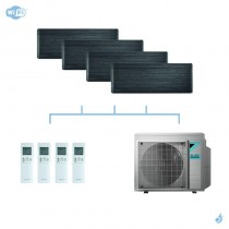DAIKIN climatisation quadri split mural gaz R32 Stylish Blackwood 6,8kW WiFi CTXA15AT+CTXA15AT+FTXA25AT+FTXA50AT+4MXM68N A++