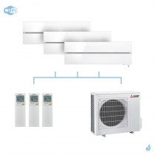 MITSUBISHI climatisation tri split gaz R32 Design De Luxe 5,4kW WiFi MSZ-LN25VG + MSZ-LN35VG + MSZ-LN35VG + MXZ-3F54VF A+++