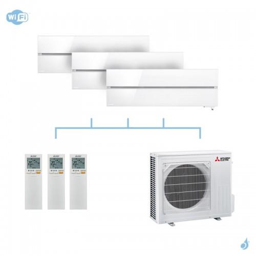 MITSUBISHI climatisation tri split gaz R32 Design De Luxe 7,2kW WiFi MSZ-LN25VG + MSZ-LN25VG + MSZ-LN35VG + MXZ-4F72VF A++