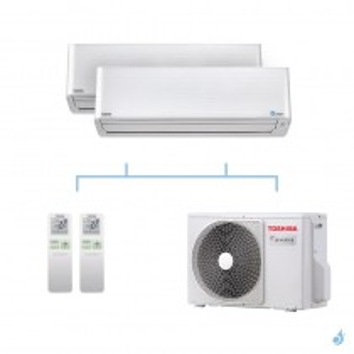 TOSHIBA climatisation bi split mural gaz R32 Super Daiseikai 9 5,2kW RAS-M13PKVPG-E + RAS-M16PKVPG-E + RAS-2M18U2AVG-E A++