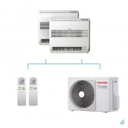 TOSHIBA climatisation bi split console gaz R32 U2FVG 4kW RAS-B10U2FVG-E1 + RAS-B10U2FVG-E1 + RAS-2M14U2AVG-E A++