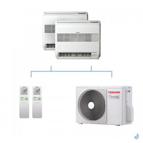 TOSHIBA climatisation bi split console gaz R32 U2FVG 5,2kW RAS-B10U2FVG-E1 + RAS-B10U2FVG-E1 + RAS-2M18U2AVG-E A++
